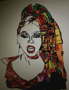 """Covergirl Rupaul."" Pen and touchmarker."
