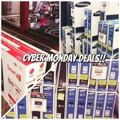 Hot deals on LG and Samsung TV's!! Purchase in stores or online! #cybermondaysteals