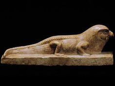 Falcon-headed crocodile  This statue combines attributes of two great hunters—the keen-eyed falcon and the mighty Nile crocodile.  Late Period, 664–332 BCE From Mansoora Indurated limestone The Egyptian Museum, Cairo