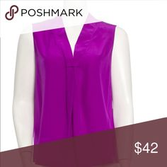 Kate Spade Silk Blouse Sleeveless Purple Beautiful purple silk blouse by Kate Spade. Perfect for spring and summer and under a cardi or blazer for work. No issues, no trades, please. More pics soon! kate spade Tops Blouses