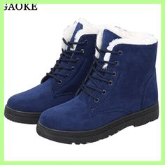 Snow boots winter ankle boots women shoes plus size shoes 2018 fashion  heels winter boots fashion shoes cd95f63ff40