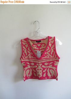 Check out this item in my Etsy shop https://www.etsy.com/listing/257879670/70-off-xmas-sale-vintage-hot-pink-tan
