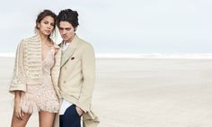 Kenya Kinski Jones poses with boyfriend Will Peltz in Ermanno Scervino's spring 2017 campaign