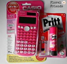 pink school supplies