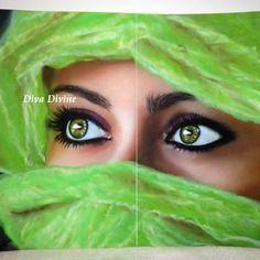 ~ le regard ~ tableau au pastel sec style ethnique – 1 seule création uniquement