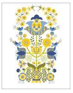 Illustrazione originale di Christine Stalder - albero della vita - Limited Edition Print
