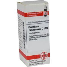 CAUSTICUM HAHNEMANNI C 1000 Globuli:   Packungsinhalt: 10 g Globuli PZN: 04211248 Hersteller: DHU-Arzneimittel GmbH & Co. KG Preis: 26,21…
