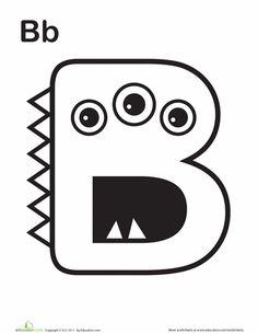 """Worksheets: Monster """"B"""""""