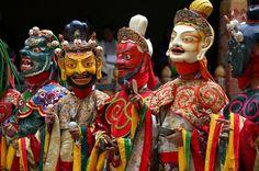 BHUTAN / Trongsa Dzong / Religious dance festival - Tshechu 4. day ...
