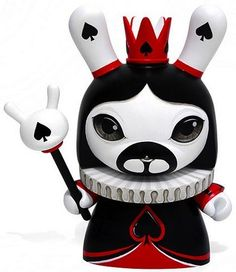 'Kai' by Otto Bjornik. This custom #dunny is part of his 'Kwadro Kwin' series : http://trampt.com/s/2418