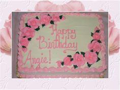 Birthday Sheet Cakes for Women | Rose Birthday : this quarter sheet birthday cake is carrot cake with ...