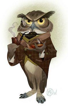 "Cory Loftis ~ ""The Dapper Owl,"" Sir Cornelius Ratsbone is just the tip of the iceburg."