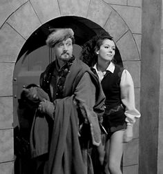 Patrick Macnee and Diana Rigg from the Avengers