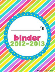 Editable Binder Covers