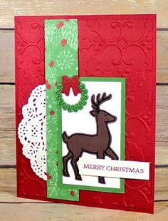 Create With Christy: Short & Sweet Saturday - Santa's Sleigh & CPC65 Card