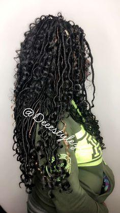 Pinterest ; P r e t t y R a r e Faux Locs Hairstyles, Fancy Hairstyles, Girl Hairstyles, School Hairstyles, Protective Hairstyles, Protective Styles, Natural Hair Tips, Natural Hair Styles, Goddess Locks