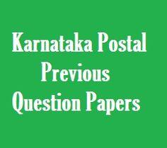 Karnataka Postal Circle Exam Question Papers