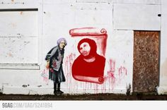 Banksy knows what's up?  (Is this real?)