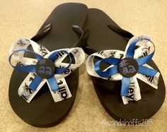 How to Decorate Flip Flops with Ribbon - This fast and easy DIY project will help you turn plain flip flops into custom flip flops by adding custom ribbon.