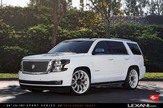 Lexani Wheels, the leader in custom luxury wheels.  2016 Chevy Tahoe on LS-707 Chevrolet Tahoe, Chevy, 2016 Tahoe, Gmc Suv, Air Planes, Gm Trucks, Best Luxury Cars, Car Wheels, Car Stuff