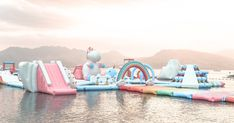 A giant inflatable unicorn park exists and it's the stuff of Instagram dreams with obstacle courses and pastel coloured beach bars