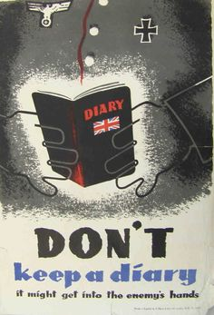 Don't keep a diary