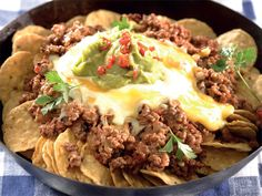 Maklike nacho's. Jy kan hierdie gereg binne 15 minute maak as jy al die regte bestanddele het.