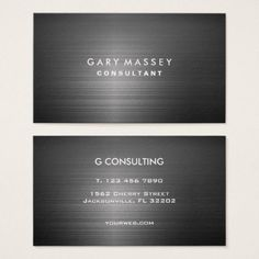 Professional Modern Black Metal Business Card - attorney lawyer business personalize unique counsel