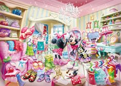 D-500-425 Tenyo Disney Japan Jigsaw Puzzles Minnie Mouse Dressing