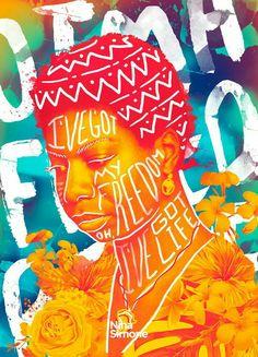 Graphic Design Posters, Graphic Design Typography, Graphic Design Inspiration, Graphic Art, Nina Simone, Magazine Art, Photo Illustration, Art Direction, Collage Art