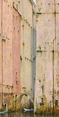 'View from a Bridge' Cyril Croucher – wrenfineart.com