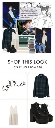 """""""I'll keep you my dirty little secret. // Set #371"""" by sammisolace ❤ liked on Polyvore featuring Kurt Adler, GET LOST, Uniqlo, Organic by John Patrick, music, kpop, ikon and hanbin"""