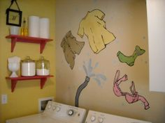 "Cute wall art from ""Upgrade Your Laundry Room"""