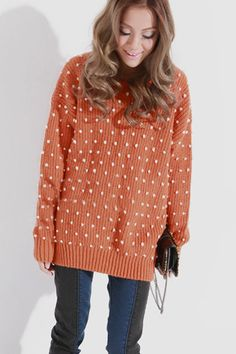 205817aefbd Never too warm for an over sized sweater Orange Jumpers