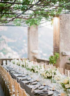 Al Fresco Dinner at Luxury Villa Magia in Positano, Italy Dubai Wedding, Italy Wedding, Destination Wedding, European Wedding, Tuscan Wedding, Al Fresco Dinner, Wedding Table Settings, Wedding Tables, Tuscan Style