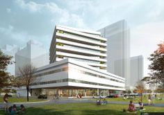ShuShe ARCHITECTURE designed the 'Dezhou Baolin Office Building' in Dezhou, China. http://en.51arch.com/2014/05/a2016-dezhou-baolin-office-building/
