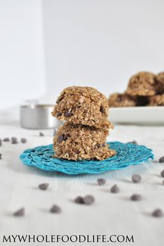 These Quinoa Chocolate Chip Cookies are healthy enough for breakfast.  No refined sugars of flours.  #vegan #glutenfree #breakfast #cookies #quinoa