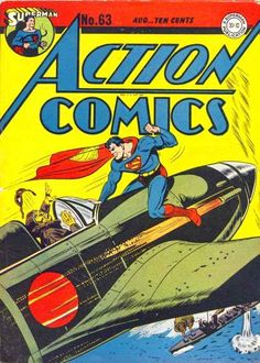Action Comics classic Japanese WWII cover Superman G/VG condition Superman Comic, Superman Action Comics, Comic Book Superheroes, Dc Comic Books, Vintage Comic Books, Vintage Comics, Comic Book Covers, Comic Book Characters, Comic Character