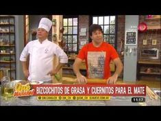 Receta bizcochitos de grasa y cuernitos para el mate - YouTube