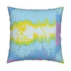Catalan Throw Pillow featuring Sky Electric by menny | Roostery Home Decor