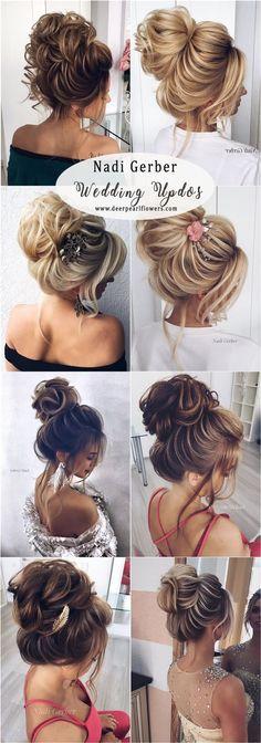 Nadi Gerber high updos wedding hairstyles #weddinghairstyles
