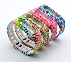 HoneyLife Fitbit One fashion Silicone Replacement Wristband Bracelet Wireless Activity Plus Sleep Tracker Accessory Band with Safety Clasp Colorful Light  Owl  Peach Blossom  Floral >>> You can get more details by clicking on the image.