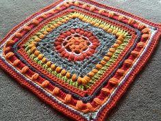 "Sadiesjewels' Dalliance 12"" Afghan Block ~ free pattern for color inspiration"