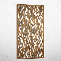 A modern and decorative laser cut screen. This unique design is an excellent solution for privacy screening on your balcony or as a window cover Metal Garden Screens, Metal Screen, Garden Screening, Decorative Screens, Entrance Ideas, Metal Panels, Modern Exterior, Metal Wall Art, Serenity