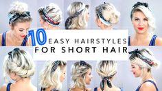 10 Easy Hairstyles for Short Hair With Headband | Milabu