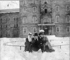 Here's an interesting one. Freda's mother Rose Batten (Rosa) on the right. Rose's sister Ida Batten (aunt Ida) on the left. The man in the middle is Joe Riffie. Taken in front of the Weston State Hospital where they all worked. If you don't know about the Weston State hospital.. check it out, very interesting.. not to mention it was one the main employers in Weston for many years. www.abandonedonline.net/hospitals/weston-state-hospital/