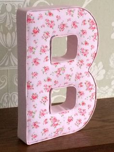 S Fl Vintage Shabby Chic Fabric Letters Nursery Bedroom Home Decor Wall Hanging Or Free Standing Keepsake New Baby Gift Idea