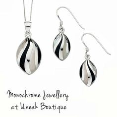 HOT TREND! Stylish black and white jewellery designs from our Monochrome Jewellery collection.