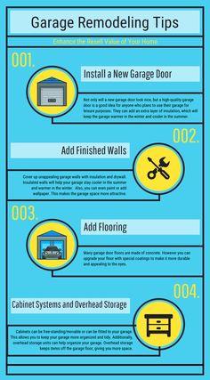 4 Great Remodeling Tips For Your Garage   Infographic   Precision Garage  Door Las Vegas