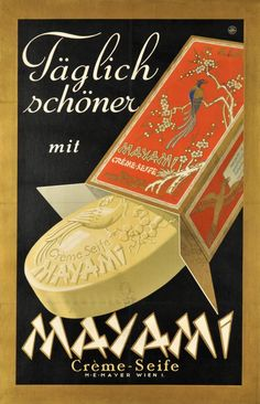 "1930 advertisement, ""Every Day More Beautiful with Mayami Soap"", Austrian"